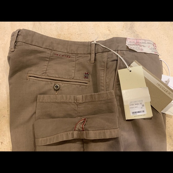Incotex Nude Cotton Classic Chinos Men S Size 38 Nwt